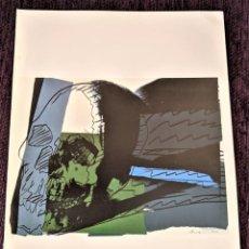 Arte: LITOGRAFIA ORIGINAL DE ANDY WARHOL CON CERTIFICADO DE AUTENTICIDAD Y FIRMADA 1977 35X27. Lote 83392960