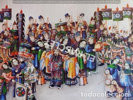 ANTIGÜA LITOGRAFIA ARTE CHINO-LAMINA IX - PALACIO REAL DE ARANJUEZ (ESPAÑA) (Arte - Litografías)