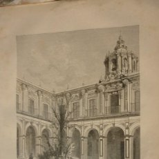 Arte: SEVILLA. PATIO DEL PALACIO DE SANTELMO. LITOGRAFIA ORIGINAL AÑO 1881. Lote 213818686