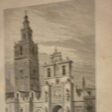 Arte: ESPAÑA. LA GIRALDA DE SEVILLA. LITOGRAFIA ORIGINAL AÑO 1881. Lote 213818940