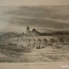 Art: ESPAÑA. VISTA DE SALAMANCA. LITOGRAFIA ORIGINAL AÑO 1881.. Lote 213819396