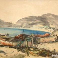 Arte: EMILI BOSCH ROGER (BARCELONA, 1894 - 1980) LITOGRAFIA FIRMADA A PLANCHA. VISTA COSTERA. Lote 214027447