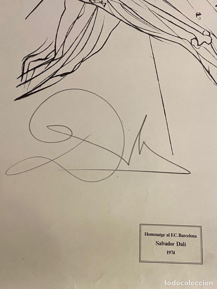 Arte: Litografía Firmada Salvador Dalí FC Barcelona Aniversario 1974 - Foto 4 - 214134317