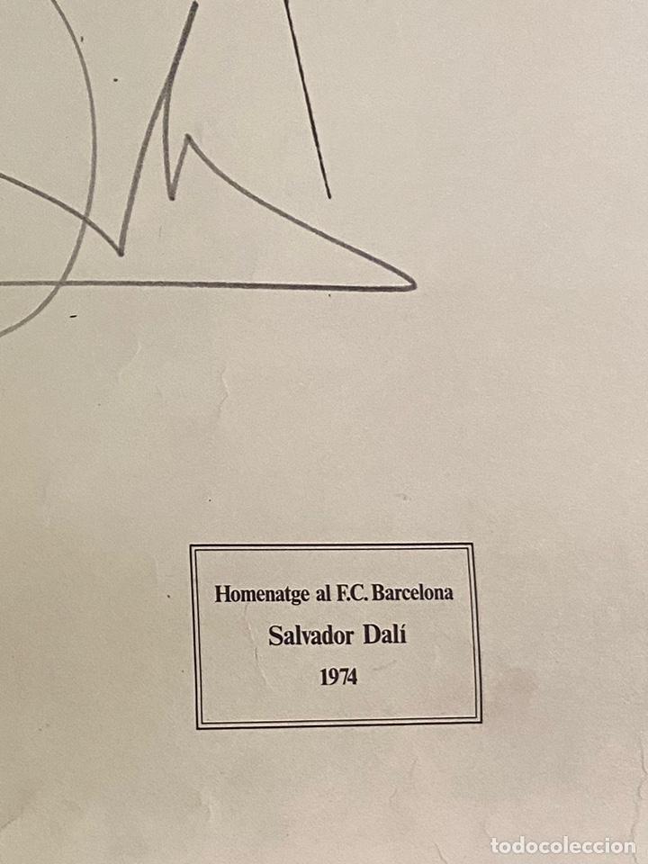 Arte: Litografía Firmada Salvador Dalí FC Barcelona Aniversario 1974 - Foto 5 - 214134317