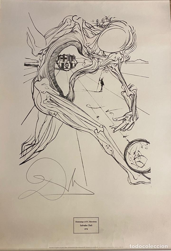 Arte: Litografía Firmada Salvador Dalí FC Barcelona Aniversario 1974 - Foto 6 - 214134317