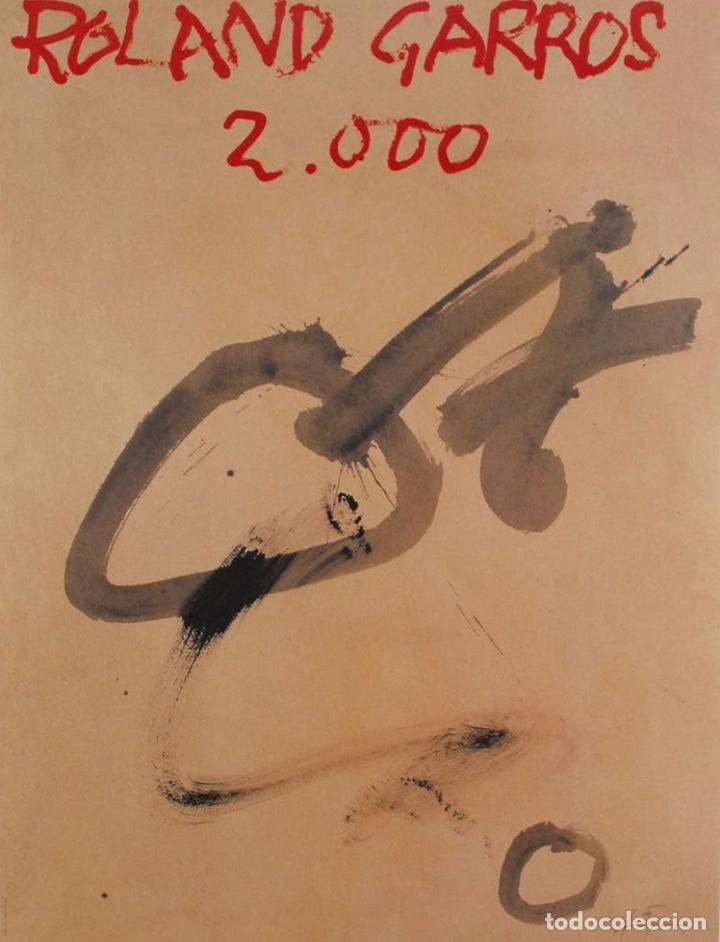 ANTONI TÀPIES CARTEL ORIGINAL ROLAND GARROS 2000 TENIS COLECCION (Arte - Litografías)