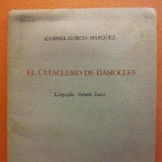 Arte: LITOGRAFIA ORIGINAL ANTONIO SAURA. EL CATACLISMO DE DAMOCLES. GABRIEL GARCÍA MÁRQUEZ. ED MONDADORI. Lote 214190120
