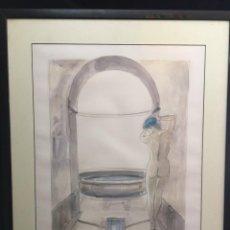 Arte: MAE DÁGUA VELHA EXCELENTE LITOGRAFÍA PRUEBA DE ARTISTA FIRMADA. Lote 214445262