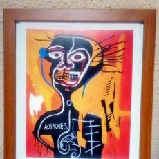 Art: JEAN-MICHEL BASQUIAT, CABEZA 1982,FIRMADA A MANO LITOGRAFÌA-EDITION 13 DE 100 TAMAÑO 29. Lote 214939725