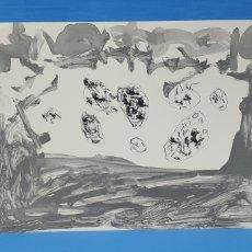 Arte: LITOGRAFÍA - ERAN MAIS CA UN - ANTÓN LAMAZARES - C 31/1000 - FIRMADA CON CERTIFICADO. ED. POLIGRAFA. Lote 215416573