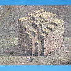 Arte: LITOGRAFÍA - ESTRUCTURA - JOSÉ MARÍA SUBIRACHS - H 52/1000 - FIRMADA CON CERTIF. EDIC. POLIGRAFA. Lote 215418570