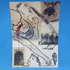 Arte: LITOGRAFÍA - LES CORBEAUX - CARMEN CALVO - A 567/1000 - FIRMADA CON CERTIF. - EDICIONES POLIGRAFA. Lote 215422376