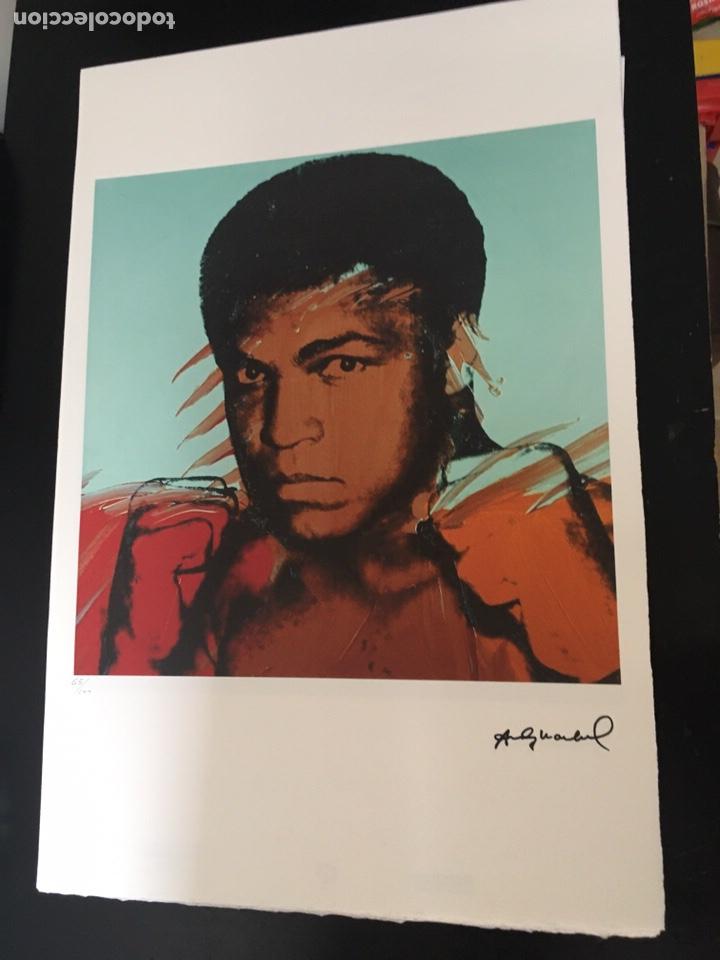 MUHAMMAD MOHAMED ALI DE ANDY WARHOL, EDICIÓN LIMITADA, NUMERADA A LÀPIZ (Arte - Litografías)