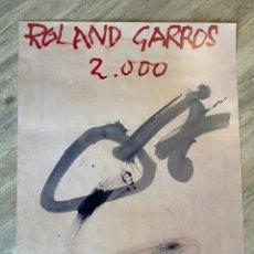 Arte: ANTONI TÀPIES PÓSTER ORIGINAL ROLAND GARROS 2000 TENIS COLECCION. Lote 214136411