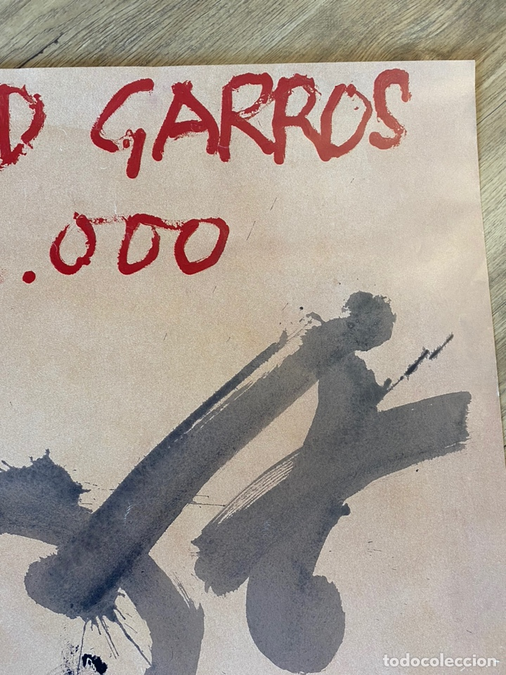 Arte: Antoni Tàpies Cartel Original Roland Garros 2000 Tenis Coleccion - Foto 5 - 214136411