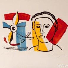 Arte: ELMYR DE HORY (BUDAPEST 1906-IBIZA 1976) - COMPOSICIÓN EN EL ESTILO DE FERNAND LÉGER (1881-1955). Lote 216594292