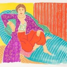 Arte: ELMYR DE HORY (BUDAPEST 1906-IBIZA 1976) - LA ODALISCA EN EL ESTILO DE MATISSE (1869-1954). Lote 216595650