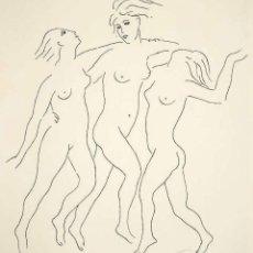 Arte: ELMYR DE HORY (BUDAPEST 1906-IBIZA 1976) - BAILARINAS EN EL ESTILO DE PICASSO (1881-1973). Lote 216597310