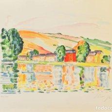 Arte: ELMYR DE HORY (BUDAPEST 1906-IBIZA 1976) - A LAS ORILLAS DEL RÍO EN EL ESTILO DE SIGNAC (1863-1935). Lote 216599826