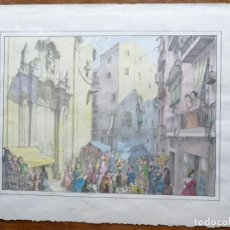 Arte: LITOGRAFIA LOLA ANGLADA – FIRA DE SANT JOAN – 1935 – SENSE FIRMA. Lote 216768050