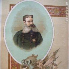 Arte: ANTONIO DORREGARAY.-MILITAR.-GUERRA CARLISTA.-CARLISMO.-LITOGRAFIA.-CEUTA.-ZARAGOZA.-AÑO 1892.. Lote 216902760