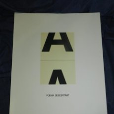 Arte: (M) JOAN BROSSA - LITOGRAFIA OBRA GRÁFICA - POEMA DESCENTRAT P.A IV/V FIRMADA A LÁPIZ. Lote 216976057