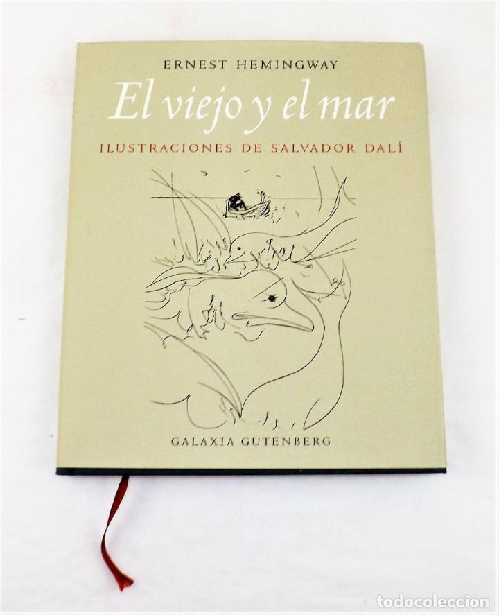 Arte: El Viejo y El Mar Ilustraciones de Salvador Dalí y Litografía original firmada de Willi Glasauer - Foto 2 - 217018075