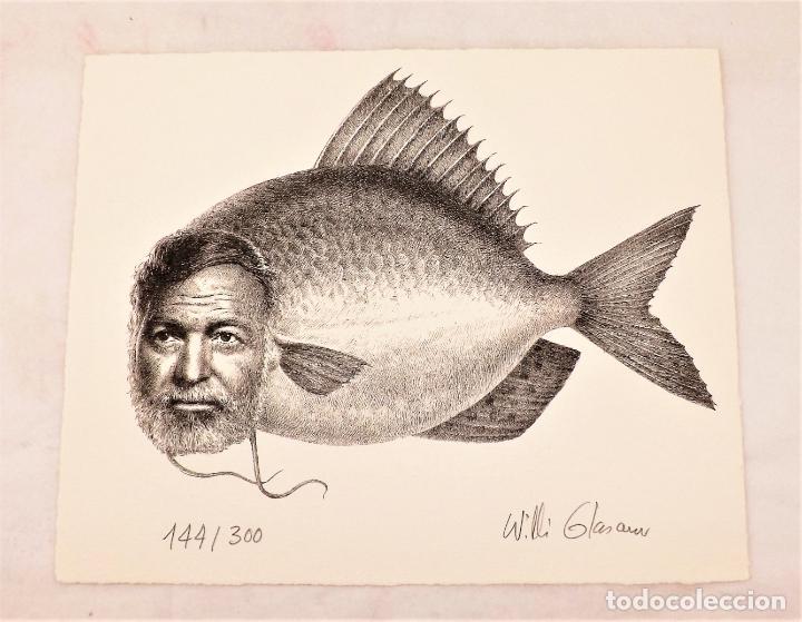 Arte: El Viejo y El Mar Ilustraciones de Salvador Dalí y Litografía original firmada de Willi Glasauer - Foto 5 - 217018075