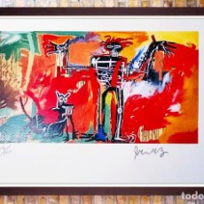 Art: JEAN-MICHEL BASQUIAT, BOY AND DOG IN A JOHNNYPUMP 1982, LITOGRAFÍA FIRMADA A MANO-EDITION 15 DE 100. Lote 217396058