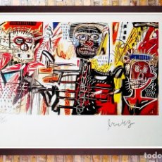 Art: JEAN-MICHEL BASQUIAT, FILISTINES 1982, LITOGRAFÍA FIRMADA A MANO-EDITION 33 DE 100 TAMAÑO 30X21,5 C. Lote 217396118