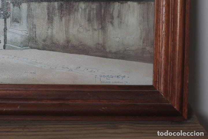 Arte: Antigua impresión litográfica de Franz Poledne, enmarcada y con cristal. 45x34cm - Foto 3 - 218001238
