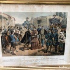 Arte: 4 CUADROS CON LITOGRAFÍAS COLOREADAS SIGLO XIX. Lote 218410826
