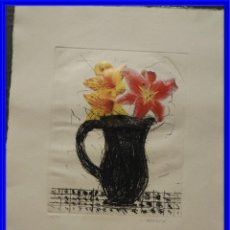 Arte: AGUAFUERTE Y AGUATINTA CON COLLAGE DE MANOLO VALDES 16/50. Lote 218607548