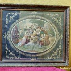 Arte: LITOGRAFÍA ANTIGUA A COLOR LA FAMILIA, 2000-105. Lote 89721104