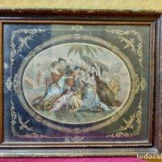 Arte: LITOGRAFÍA ANTIGUA MATERNIDAD ASIÁTICA, 2000-104. Lote 89721768