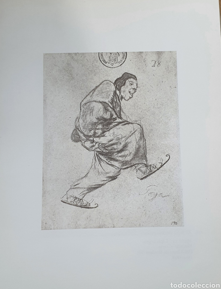 LITOGRAFIA DE GOYA. EL LEGO DE LOS PATINES. 116 (INV 379) 192X151 DEL ÁLBUM DE BURDEOS 1824-1828 (Arte - Litografías)