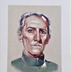 Arte: STAR WARS WILHUFF TARKIN LITOGRAFIA DE MIGUEL ANGEL ALFARO FIRMADA + CERTIFICADO - 7.5 X 10.5.CM. Lote 218798606