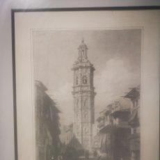 Arte: IGLESIA DE SANTA CATALINA, VALENCIA. ENMARCADO 43X53CM. Lote 218809457