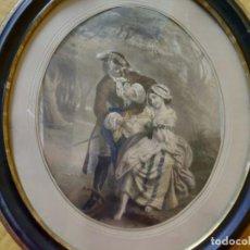 Arte: LITOGRAFÍA ANTIGUA A COLOR CORTEJO, 2000-125. Lote 89633464