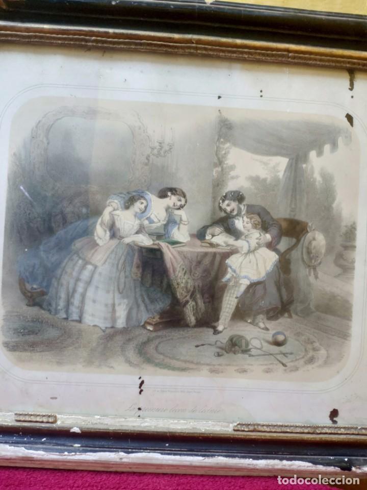 Arte: LITOGRAFIA ESCENA FAMILIAR, 2000-124 - Foto 10 - 89637880