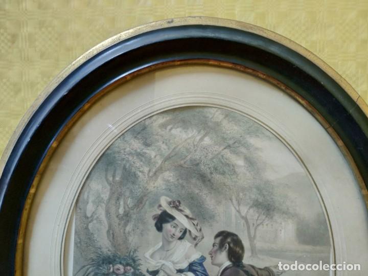 Arte: LITOGRAFÍA ANTIGUA A COLOR CORTEJO, 2000-126 - Foto 3 - 89638024