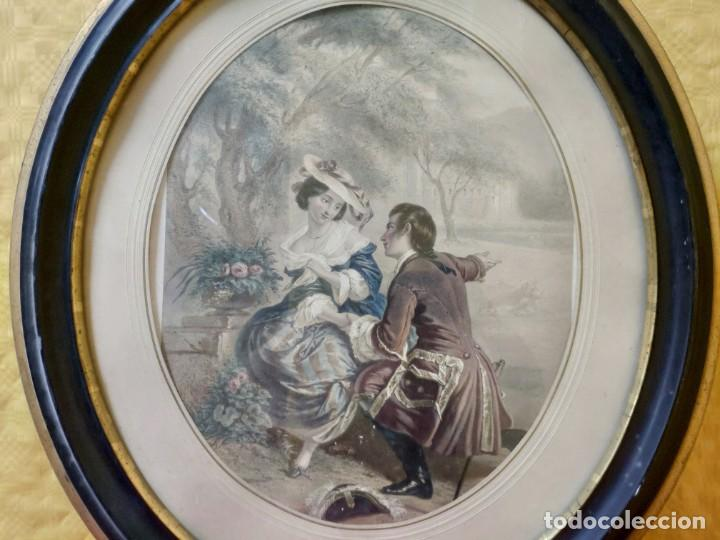 Arte: LITOGRAFÍA ANTIGUA A COLOR CORTEJO, 2000-126 - Foto 10 - 89638024