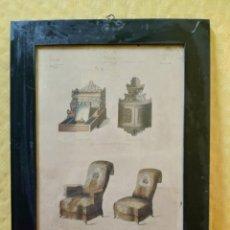 Arte: LITOGRAFÍA ANTIGUA A COLOR MUEBLES, 2000-142. Lote 89646080