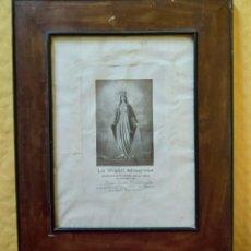 Arte: LITOGRAFÍA ANTIGUA LA VIRGEN MILAGROSA, 2000-136. Lote 89711912