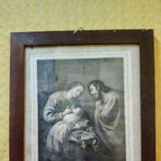 Arte: LITOGRAFÍA DEDICADA AL REY N.S, MARCO EN MADERA DE HAYA, 2000-135. Lote 90939205