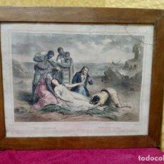 Arte: LITOGRAFÍA ANTIGUA A COLOR MUERTE DE VIRGINIA, 2000-152. Lote 89643164