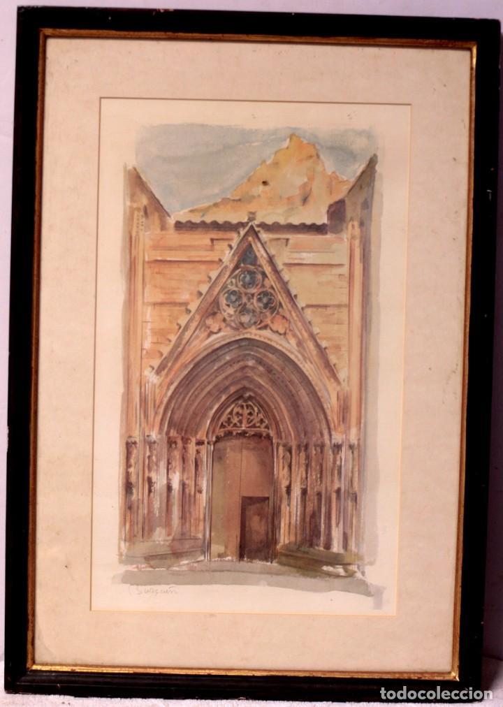 Arte: Litografía del artista murciano Jose Burgueño. Firmada a mano. Enmarcada. 43x61cm - Foto 2 - 218901806