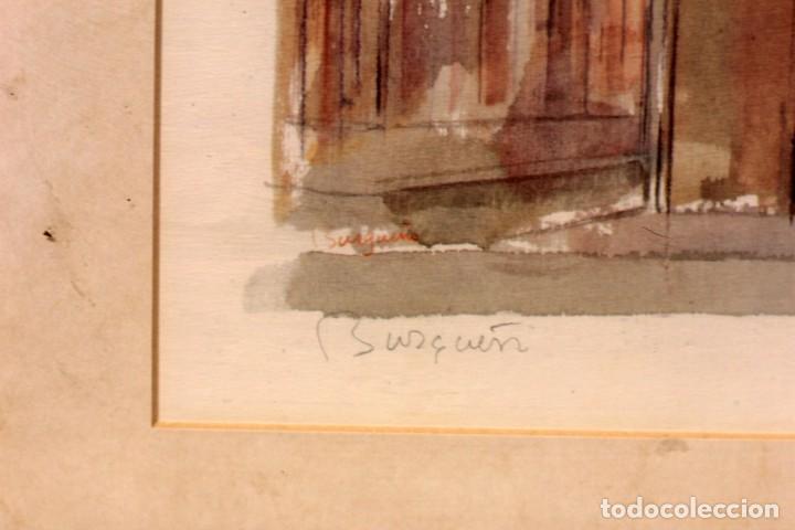Arte: Litografía del artista murciano Jose Burgueño. Firmada a mano. Enmarcada. 43x61cm - Foto 6 - 218901806
