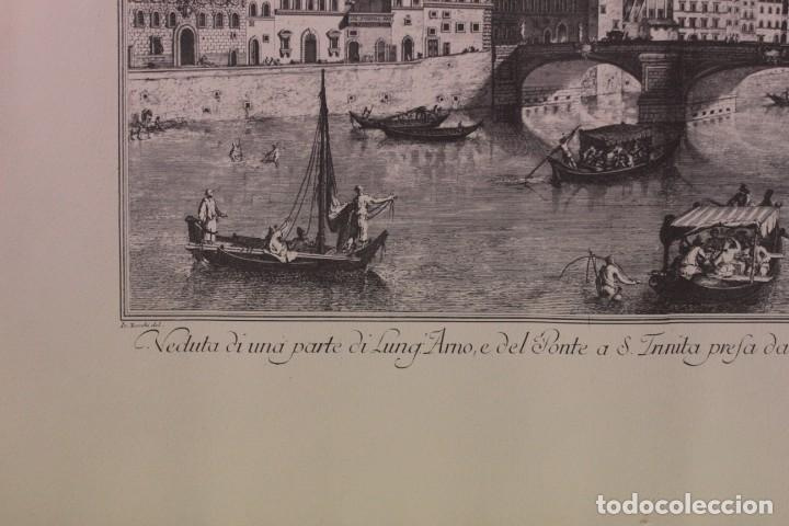 Arte: ZOCCHI, G. - Veduta di una parte di Lung... enmarcado 67x52cm - Foto 5 - 218912877