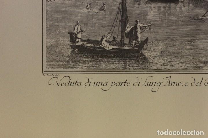 Arte: ZOCCHI, G. - Veduta di una parte di Lung... enmarcado 67x52cm - Foto 8 - 218912877